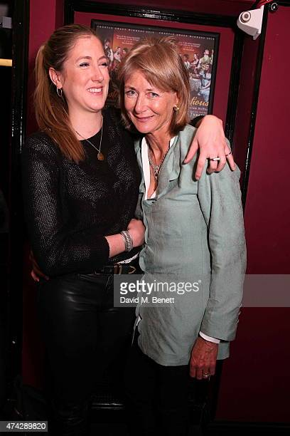 Georgia Ranson and Penny Bonas attend the press night performance of 'An Evening With Lucian Freud' at the Leicester Square Theatre on May 21 2015 in...