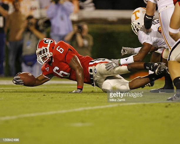 Georgia RB Kregg Lumpkin during the game between the Georgia Bulldogs and the Tennessee Volunteers at Sanford Stadium in Athens, GA on October 7,...