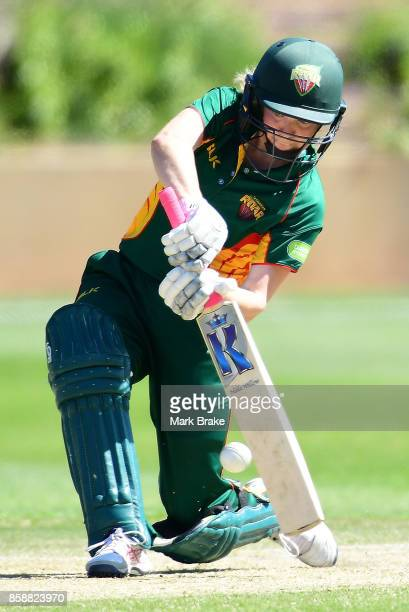 Georgia Redmayne batting during the WNCL match between South Australia and Tasmania at Adelaide Oval No2 on October 8 2017 in Adelaide Australia