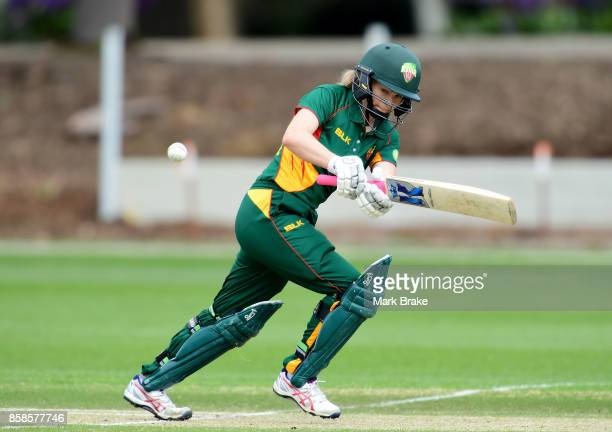 Georgia Redmayne batting during the WNCL match between Tasmania and Western Australia at Adelaide Oval No2 on October 7 2017 in Adelaide Australia