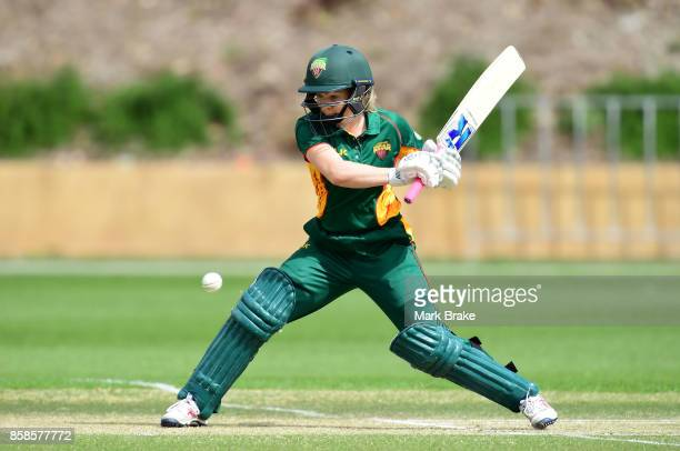 Georgia Redmayne during the WNCL match between Tasmania and Western Australia at Adelaide Oval No2 on October 7 2017 in Adelaide Australia