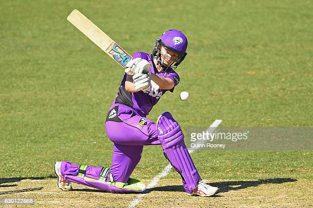 Georgia Redmayne of the Hurricanes bats during the WBBL match between the Renegades and Hurricanes on December 17 2016 in Bendigo Australia
