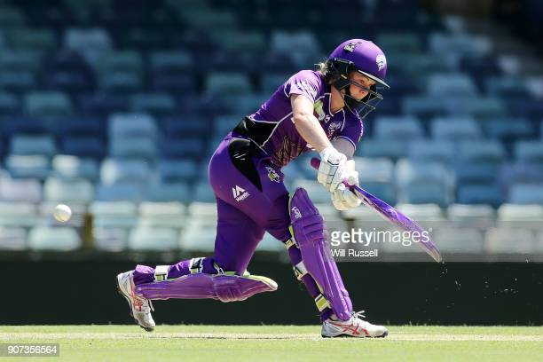 Georgia Redmayne of the Hurricanes bats during the Women's Big Bash League match between the Perth Scorchers and the Hobart Hurricanes at WACA on...