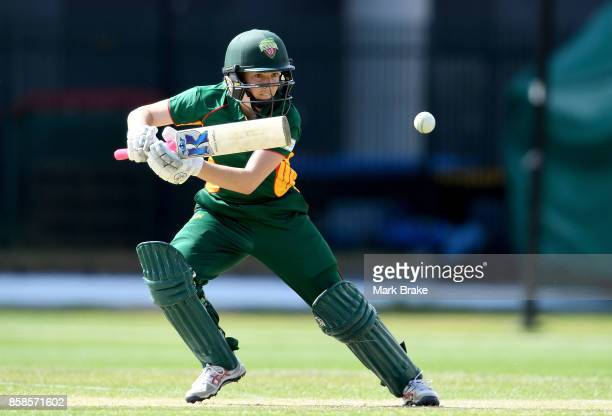 Georgia Rednayne batting during the WNCL match between Tasmania and Western Australia at Adelaide Oval No2 on October 7 2017 in Adelaide Australia