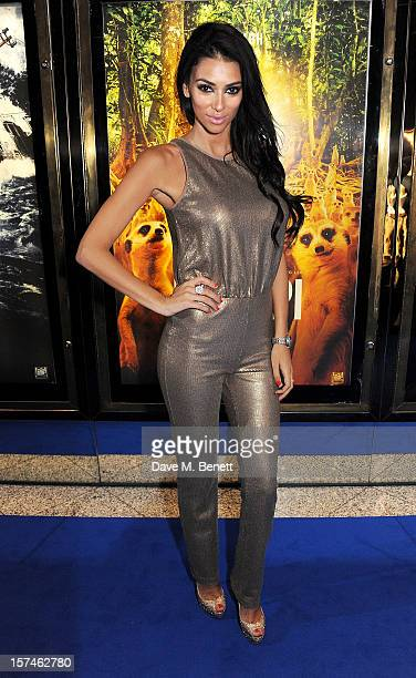 Georgia Salpa attends the UK Premiere of 'Life of Pi' at Empire Leicester Square on December 3 2012 in London England