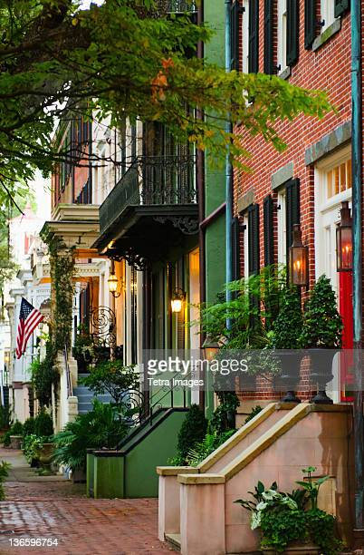 USA, Georgia, Savannah, Houses in residential district