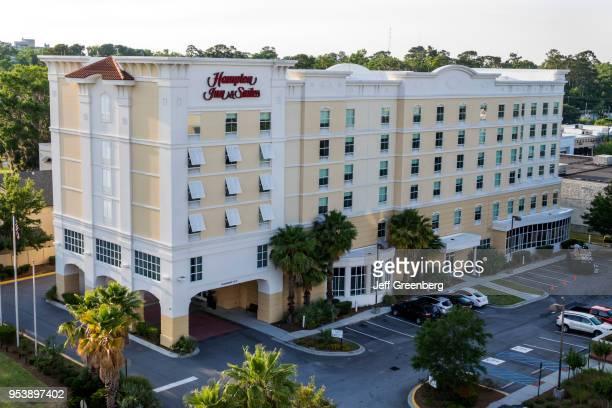 Georgia Savannah Midtown Hampton Inn and Suites hotel exterior aerial