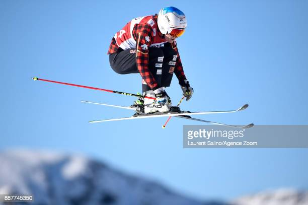 Georgia Simmerling of Canada during qualifications during the FIS Freestyle Ski World Cup, Men's and Women's Ski Cross on December 7, 2017 in Val...