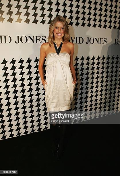 Georgia Sinclair arrives at the David Jones Summer 2007 Collection Launch at the Melbourne Townhall on August 14 2007 in Melbourne Australia