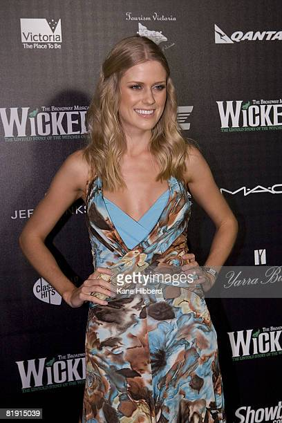 Georgia Sinclair arrives for the Australian premiere of 'Wicked' the musical at the Regent Theatre on July 12 2008 in Melbourne Australia