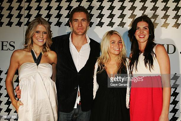 Georgia Sinclair Brett Tucker Stephanie McIntosh and an unidentified guest arrive at the David Jones Summer 2007 Collection Launch at the Melbourne...