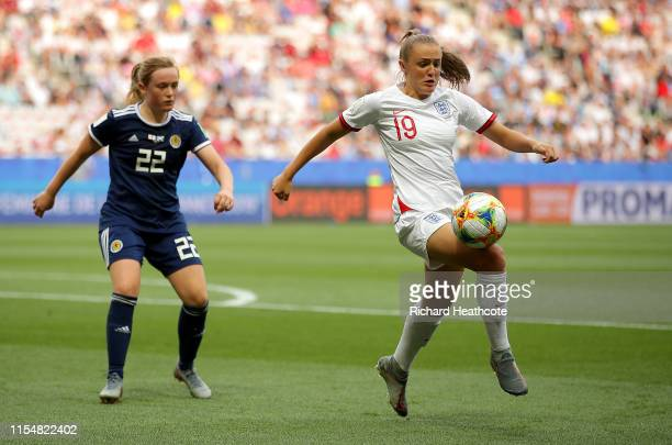 Georgia Stanway of England controls the ball during the 2019 FIFA Women's World Cup France group D match between England and Scotland at Stade de...