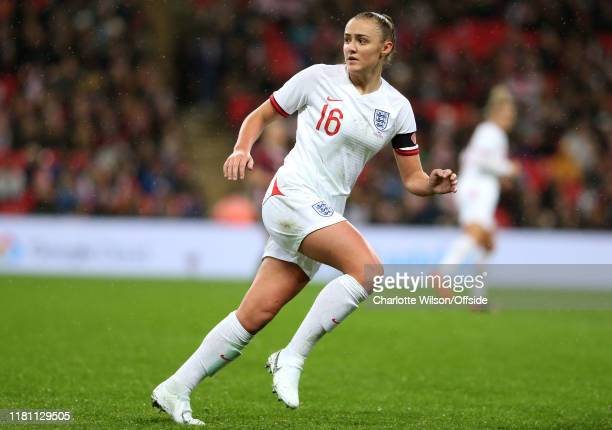 Georgia Stanway of England during the International Friendly between England Women and Germany Women at Wembley Stadium on November 9 2019 in London...