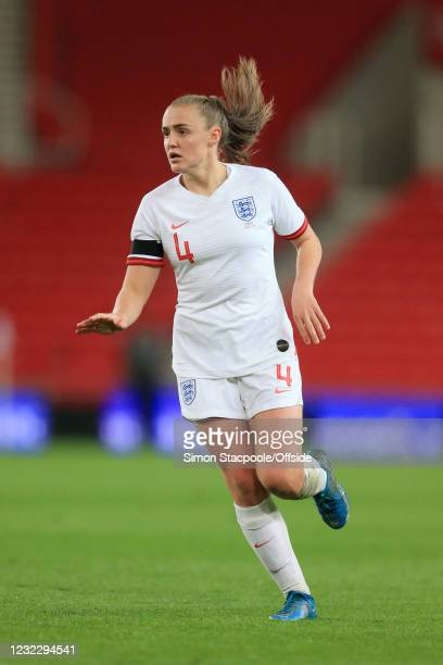 Georgia Stanway of England looks on during the International Friendly match between England and Canada at Bet365 Stadium on April 13, 2021 in Stoke...