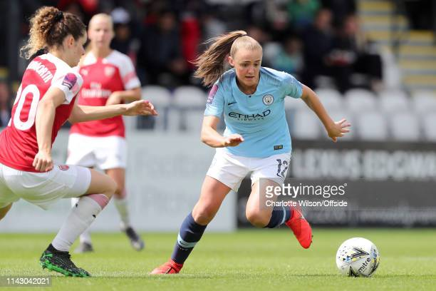 Georgia Stanway of Man City during the Women's Super League match between Arsenal Women and Manchester City Women at Meadow Park on May 11 2019 in...
