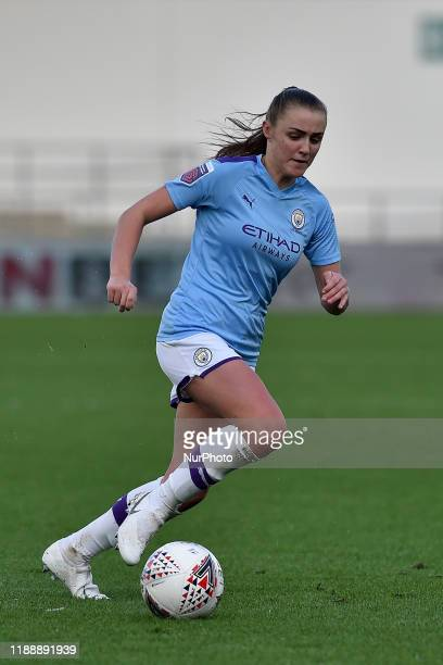 Georgia Stanway of Manchester City during the Barclays FA Women's Super League match between Manchester City and Brighton and Hove Albion at the...