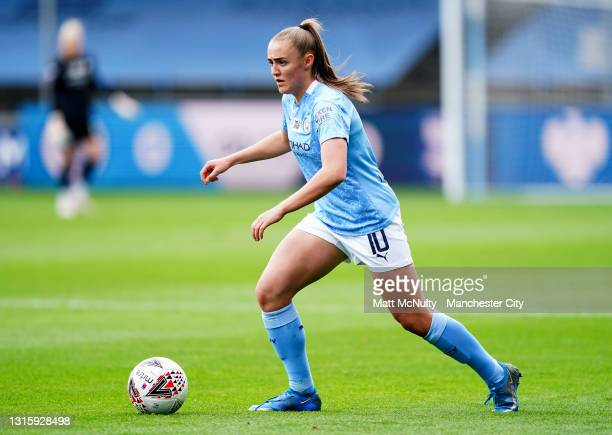 Georgia Stanway of Manchester City during the Barclays FA Women's Super League match between Manchester City Women and Birmingham City Women at...