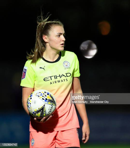 Georgia Stanway of Manchester City during the FA Women's Continental League Cup SemiFinal match between Arsenal Women and Manchester City Women at...