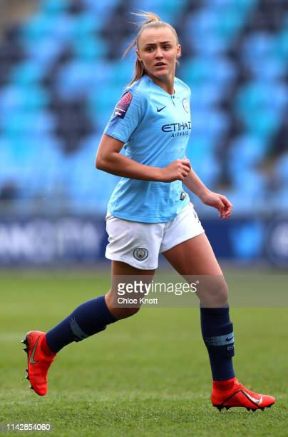 Georgia Stanway of Manchester City during the Women's FA Cup Semi Final match between Manchester City Women and Chelsea Ladies at The Academy Stadium...