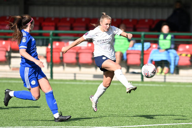 GBR: Leicester City FC v Manchester City - SSE Women's FA Cup: Quarter Final