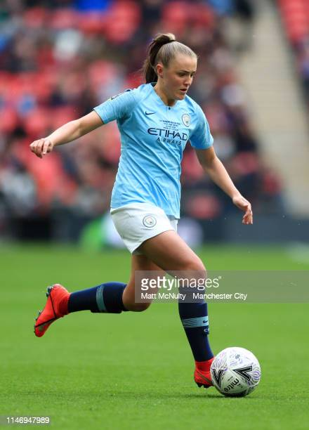 Georgia Stanway of Manchester City Women runs with the ball during the Women's FA Cup Final match between Manchester City Women and West Ham United...
