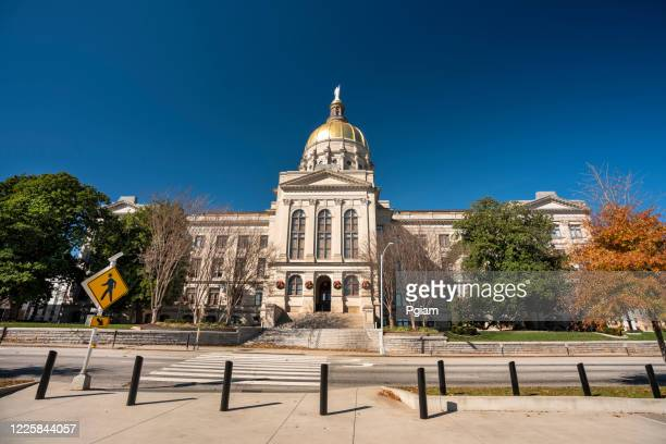 georgia state capitol building in atlanta usa - capital cities stock pictures, royalty-free photos & images