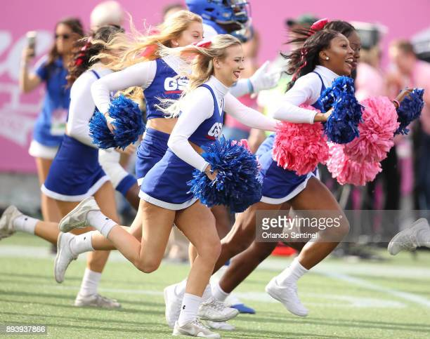Georgia State cheerleaders during the Cure Bowl against Western Kentucky at Camping World Stadium in Orlando Fla on Saturday Dec 16 2017 Georgia...
