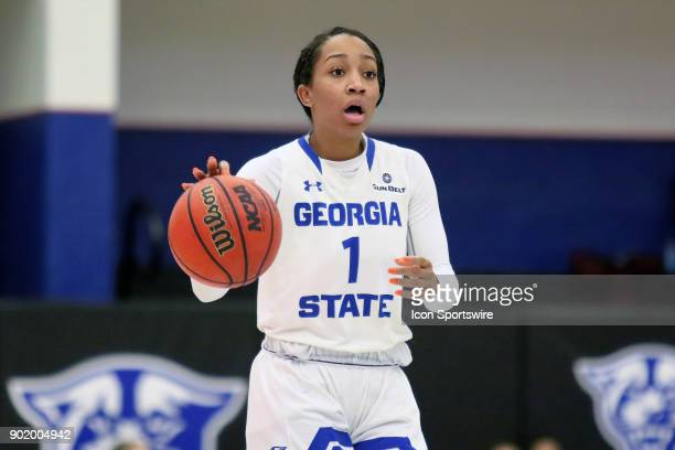 Georgia State Lady Panthers guard Janessa Murphy during the game between Arkansas State Red Wolves and the Georgia State Lady Panthers Arkansas State...