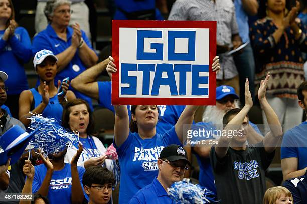 Georgia State Panthers fans look on as they play the Xavier Musketeers during the third round of the 2015 NCAA Men's Basketball Tournament at...