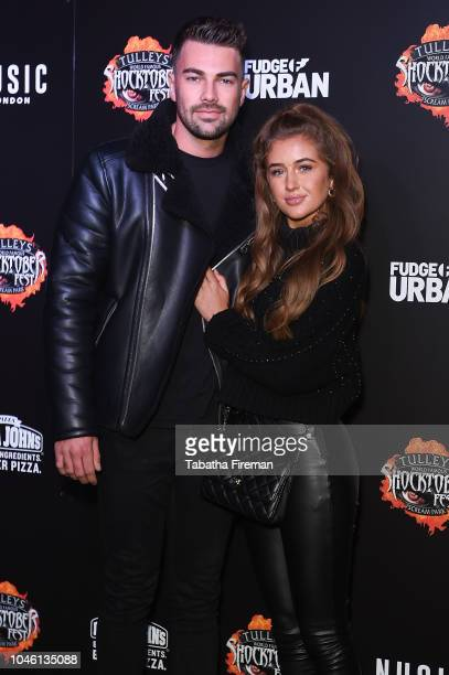 Georgia Steel and Sam Bird attend the press night for Shocktober Fest at Tulleys Farm on October 5 2018 in Crawley West Sussex