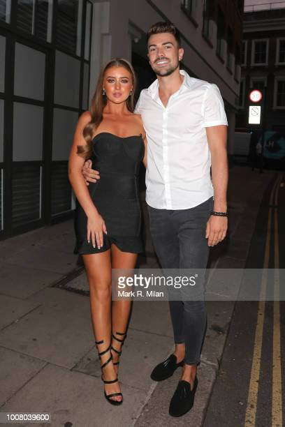 Georgia Steel and Sam Bird attending The Sun's Love Island 2018 finale viewing party at Covent Garden's Tropicana sighting on July 30 2018 in London...