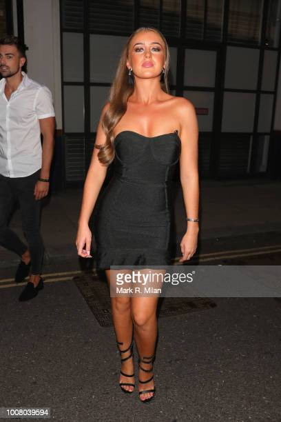 Georgia Steel attending The Sun's Love Island 2018 finale viewing party at Covent Garden's Tropicana sighting on July 30 2018 in London England