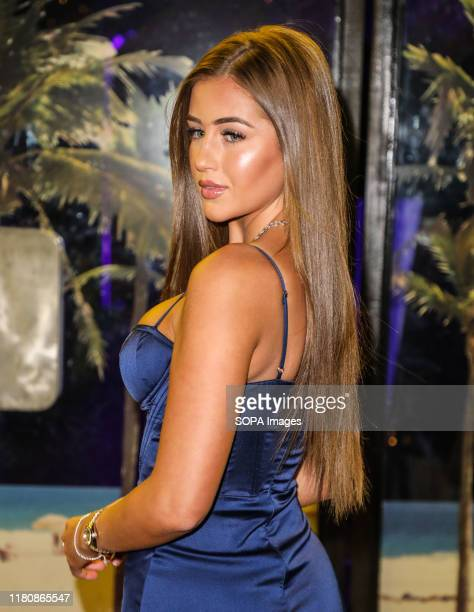 Georgia Steel attends the launch party for Gabby Allen's new collaboration with SportFX at the Tropicana Beach Club in London