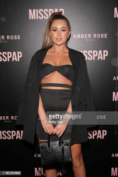 Georgia Steel attends the Misspap Launch Party on October 10 2019 in London England
