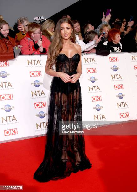 Georgia Steel attends the National Television Awards 2020 at The O2 Arena on January 28 2020 in London England