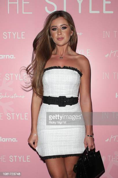 Georgia Steel seen attending In The Style Christmas party at Tonight Josephine on December 12 2018 in London England