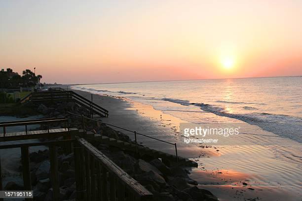 georgia sunrise on st.simons island - saint simon's island stock pictures, royalty-free photos & images