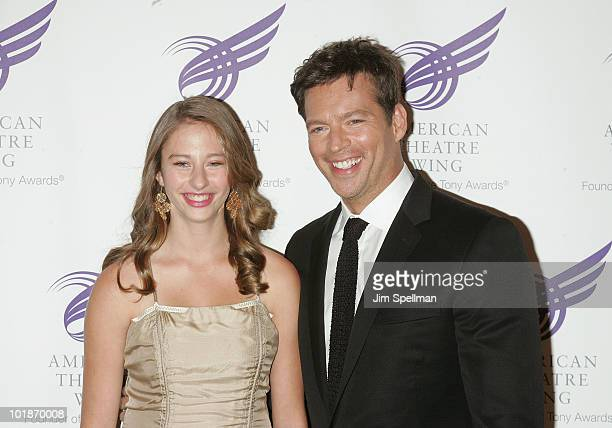 Georgia Tatom Connick and father singer/actor Harry Connick Jr attend the 2010 American Theatre Wing Spring Gala at Cipriani 42nd Street on June 7...