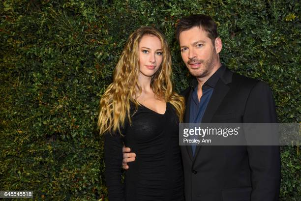 Georgia Tatum Connick and Harry Connick Jr attend Charles Finch and CHANEL PreOscar Awards Dinner at Madeo Restaurant on February 25 2017 in Los...