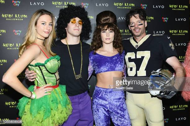 Georgia Tatum Connick Bobby Young Jill Goodacre and Harry Connick Jr attend Heidi Klum's 19th Annual Halloween Party presented by Party City and...
