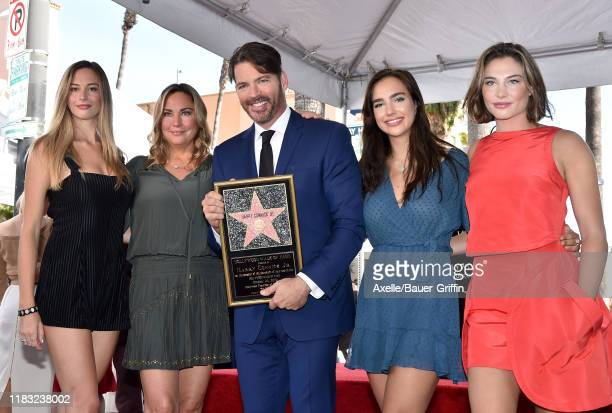 Georgia Tatum Connick Jill Goodacre Harry Connick Jr Charlotte Connick and Sarah Kate Connick attend the ceremony honoring Harry Connick Jr with star...