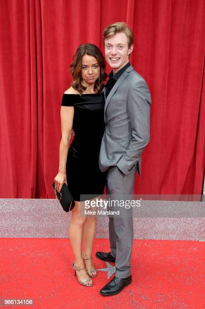 Georgia Taylor and Rob Mallard attend the British Soap Awards 2018 at Hackney Empire on June 2 2018 in London England