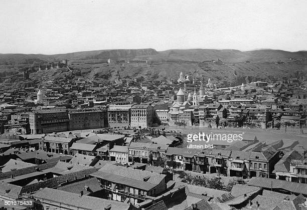 view of the town and the Kura river probably in the 1910s