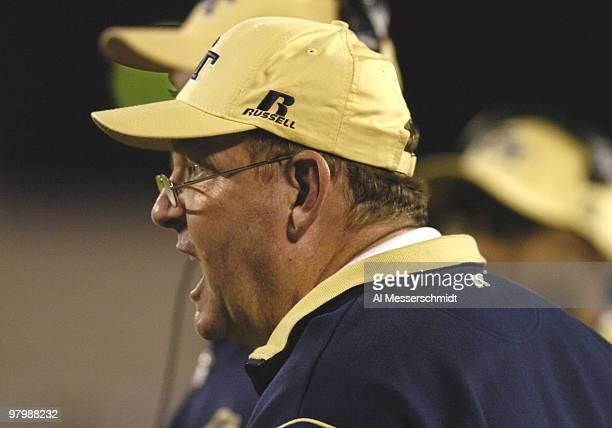 Georgia Tech coach Chan Gailey directs play against Syracuse in the Champs Sports Bowl at the Florida Citrus Bowl Orlando Florida Dec 21 2004 Georgia...