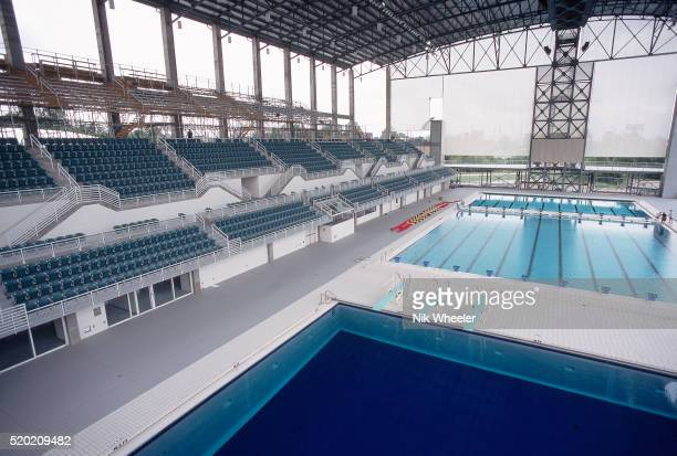 georgia tech swimming pool for 1996 olympics - 1996 summer olympics atlanta stock pictures, royalty-free photos & images