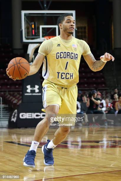 Georgia Tech Yellow Jackets guard Tadric Jackson in action during a college basketball game between Georgia Tech Yellow Jackets and Boston College...