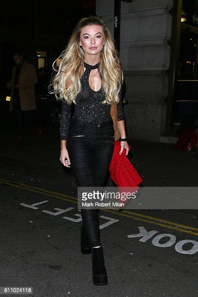 Georgia Toffolo at Nobu Berkeley Street for the Lipsy party on September 28 2016 in London England