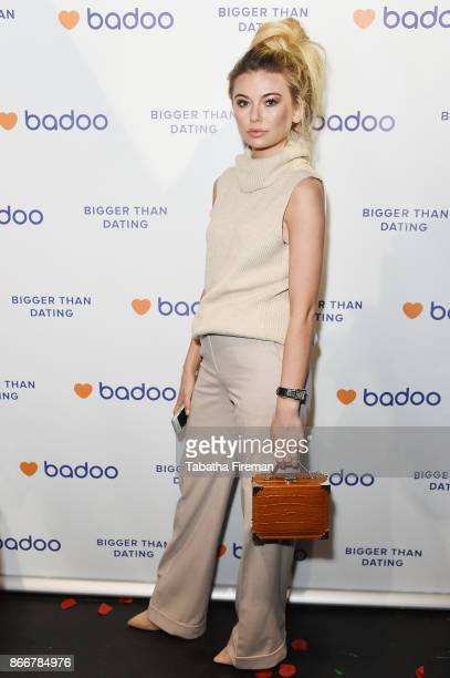 Georgia Toffolo attends Badoos #DateOfTheDead party with Daisy Lowe at La Bodega Negra on October 26 2017 in London England