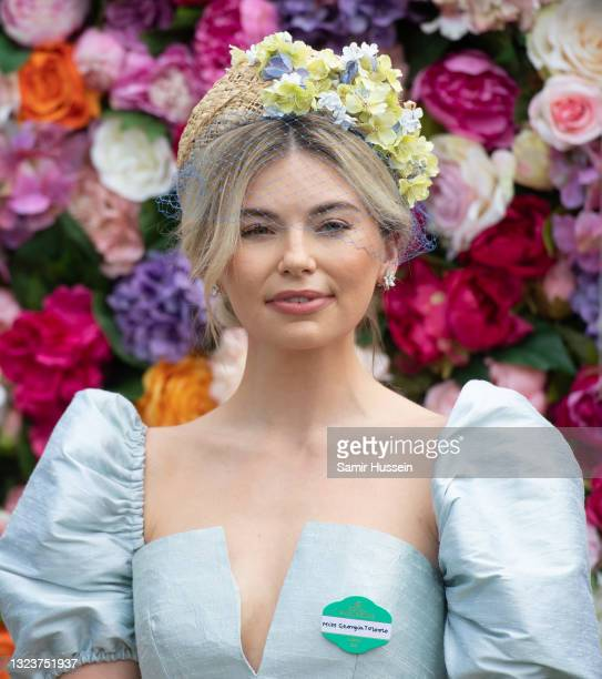 Georgia Toffolo attends Royal Ascot 2021 at Ascot Racecourse on June 15, 2021 in Ascot, England.