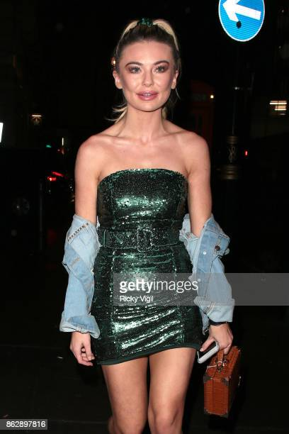 Georgia Toffolo attends Tangle Teezer 10th birthday party at Tape London on October 18 2017 in London England